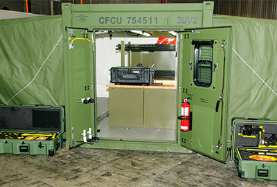 Boeing Chinook Helicopter Maintenance Shelters