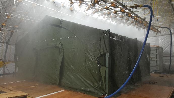 Weatherhaven Rain Testing